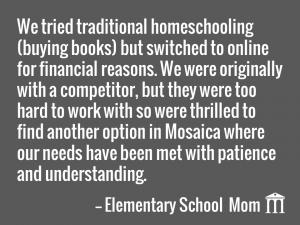 Mosaica Online Parent Testimonial